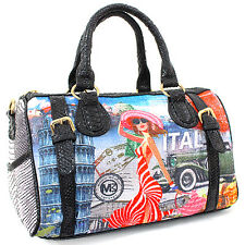 PB541-8 Fashion Print Boston Bag