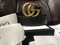 NEW Unisex Authentic Gucci Double GG Buckle Belt Size 90