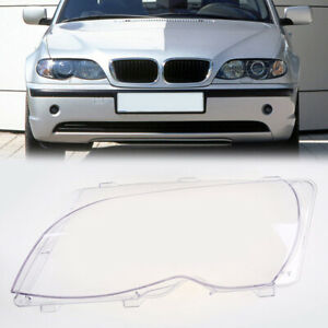 For BMW E46 LCI 4 Door 2001-06 Driver Left Side Headlight Lamp Clear Lens Cover