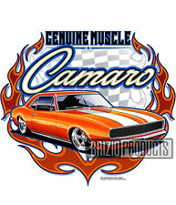 """Muscle Camaro"" White Tee 8799 Front Print"