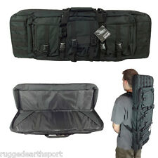 "Tactical Black 42"" Padded Carbine Double Rifle Gun Case Backpack CVDC2946B-42"