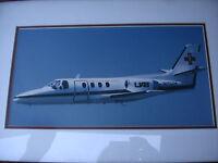 Flying Ambulance UAB University Alabama Hospitals Jet Picture Framed Very Nice