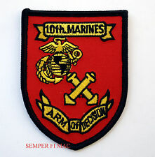 10TH MARINES REGIMENT PATCH US MARINE 2ND MAR DIV CAMP LEJEUNE ARM OF DECISION