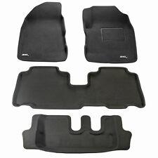 To suit Holden Captiva 7 2011 - 2018 3D Black Rubber Car Floor Mats