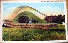 1930s Postcard: Rice Field Threshing - Beaumont, Texas TX
