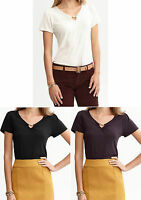 NWT Banana Republic New $45.00 Women Clip-neck Shirred Top Size XS, S, M