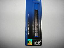 MONT BLANC 2-PK rollerball refills,fine,Pacific blue new