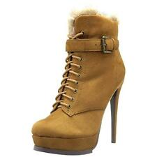 New LUICHINY 'Risk It All' Tan Suede Ankle Short Boots Booties Womens 7.5