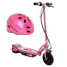 Razor E100 Electric Kids Girls Scooter (Sweet Pea) & Youth Sport Helmet (Pink)
