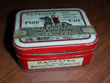 VINTAGE RARE REPEATER FINE CUT TOBACCO HINGED TIN CANADIAN L@@K