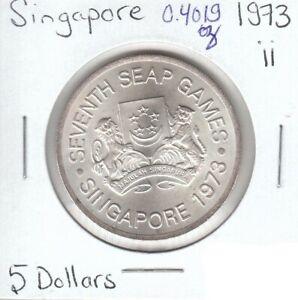Singapore 5 Dollars 1973 Silver - ii