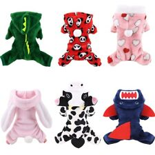 Soft Warm Pet Dog Jumpsuits Clothing for Dogs Pajamas Fleece Pet Dog Clothes