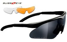 Professional SWISS EYE® RAPTOR Ballistic 3 Lens Kit Glasses Black Frame - New