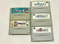 Dragon Quest & Final Fantasy Lot 5 Nintendo SFC Super Famicom Japan SNES NTSC-J