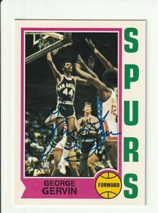 1996 Topps Autograph Auto George Gervin Certified Topps