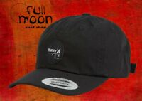 New Hurley Icon Port Mens Black Strapback Hat Cap