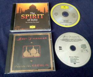 2 CDs Ravi Shankar plays Ragas Spirit Of India & Inside The Kremlin SITAR TABLA