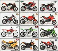 1:12 Scale Diecast Model Motorcycle Selection By Maisto. Choose Your Model(s)