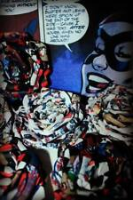 Bespoke Handmade Paper Rose Hairclip/brooch Comic Retro DC Joker Batman Harley Q