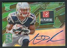 2013 Panini Spectra GREEN RC Signature Materials Aaron Dobson 2/5 Laundry Tag