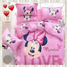 Minnie Mouse Bedding Set cartoon kids bedclothes covers 4 pcs Full Queen