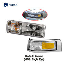 Headlight & Side Signal Light Fit 1995 1996 1997 Lincoln Town Car Driver Left