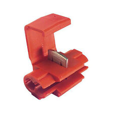RED SCOTCHLOCK CONNECTOR ELECTRICAL TERMINAL PACK x 10