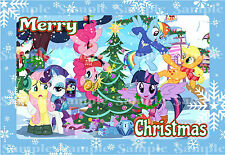 My Little Pony Rainbow Dash Snowflake Merry Christmas Party Icing Cake Toppers
