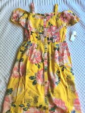 Size 10 Girls Spring Floral Dress By Justice.  NEW WITH TAGS!