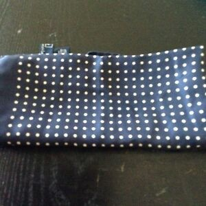Polo Ralph Lauren scalf/ polka dot navy and white dotted/ 100 percent silk