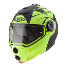 CASCO MODULARE CABERG DROID - PATRIOT MATT BLACK - YELLOW FLUO TAGLIA L