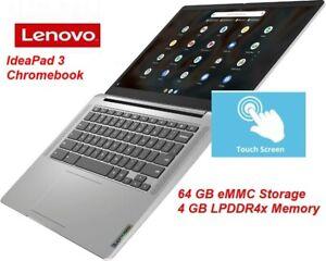 "NEW Lenovo IdeaPad 3 14"" FHD TOUCH-Screen Chromebook; 4GB RAM, 64GB eMMC,"