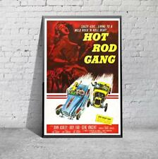 Vintage Hot Rod Gang Movie Film  Poster Print Picture A3 A4