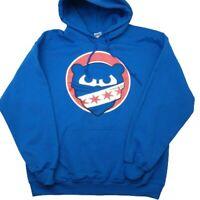 Chicago Cubs Men's Large Fleece Pullover Hoodie Sweatshirt MLB Cubbies