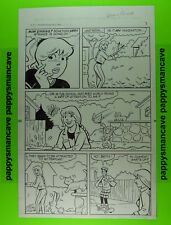 ORIGINAL~ ARCHIE COMICS~BETTY & VERONICA~DAN PARENT~COMIC ART PAGE~SIGNED     a3