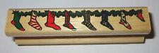 Stockings Rubber Stamp Christmas Gardland Socks Hanging For Santa Claus Border