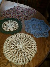 New listing Vintage Doilies lot of 4
