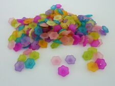 200 pce Colourful Daisy Flower Spacer Beads 11mm Jewellery Making Craft