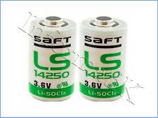 2 x Saft LS14250 LS 14250 Pila Batteria 1/2 AA 3,6V Li-SoCl2 per PLC