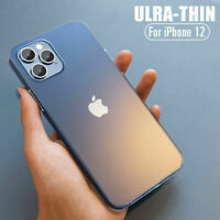 For iPhone 12 11 Pro Max XS XR X 8 7 Shockproof 0.2mm Ultra-thin Hard Case Cover