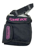 Vintage 90s Black and Pink Nintendo Game Boy Video Game Strap Bag Carrying Case