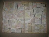Springfield Township Ohio Map.Antique 1924 Sylvania Toledo Waterville Lucas County Ohio