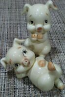 Set of 2 Vintage Lefton Anthropomorphic Collectible Pigs