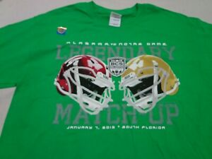 Alabama vs. Notre Dame 2013 BCS National Championship Game T-Shirt  Medium