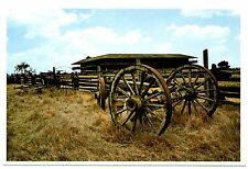 Petaluma Adobe California Postcard Wagon Wheels Mexicos General Vallejo Redwood