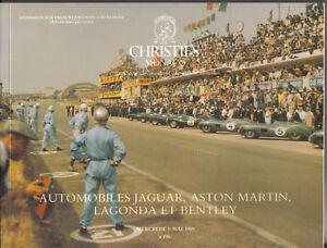 Christies 03/05/89 Monaco Jaguar Aston Martin Lagonda Bentley Auction Catalogue