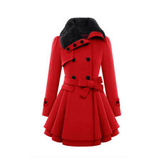Women Warm Slim Coat Jacket Thick Parka Overcoat Long Winter Outwear With Belt