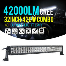420W 32Inch LED Light Bar Spot Flood Offroad Combo Work Lamp 4WD SUV Boat Truck
