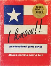 I Know Bingo Games Teacher Classroom VersionHome School USA Black History Bingo