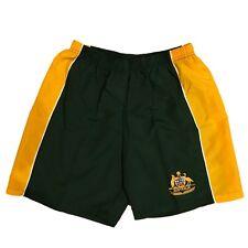 Adults Men's Board Sports Shorts Australian Souvenir Beach Gym - Green & Gold